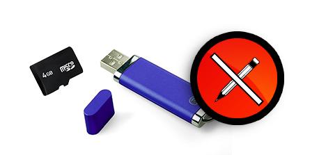 usb bellek ve hafıza kartı için yazma koruması